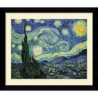 Amanti Art Vincent Van Gogh The Starry Night Framed Print Art, 24.62 x 30.62