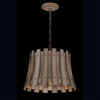 Eurofase Lighting 26363 011 Panello 4 Light Chandelier in Brown with Bronzed Rivets