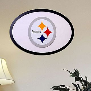 Fan Creations NFL Logo Graphic Art Plaque; Pittsburgh Steelers