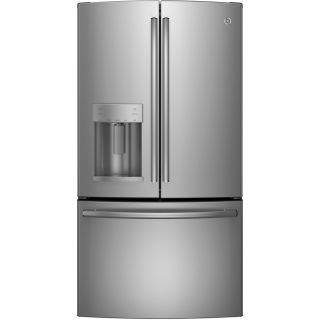 GE 27.7 cu ft French Door Refrigerator with Dual Ice Maker (Stainless Steel) ENERGY STAR