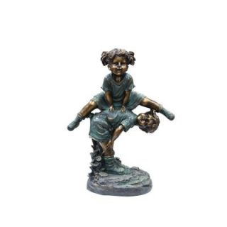 Alpine Girl Jumping Over Boy Statue GXT260