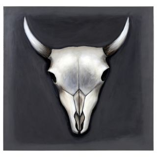 Sunpan Ikon Grey Skull Canvas Art   16388140