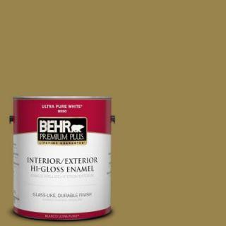 BEHR Premium Plus 1 gal. #T11 17 Wishing Troll Hi Gloss Enamel Interior/Exterior Paint 830001