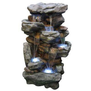 Alpine 51 in. Rainforest Waterfall Fountain WIN730