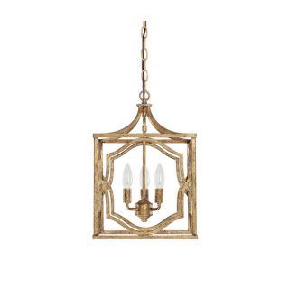Capital Lighting Blakely Collection 3 light Antique Gold Foyer Pendant