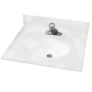 American Standard Astra Lav 25 in. Cultured Marble Single Basin Vanity Top in White Swirl with White Swirl Basin DISCONTINUED CMA8254.801