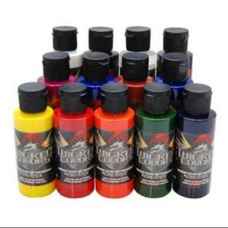 12 Createx Wicked Colors Detail Airbrush Paint Kit   Hobby, Craft, Art Painting