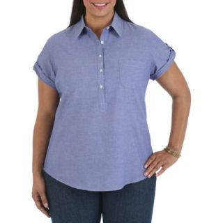 Riders by Lee Women's Plus Size Short Sleeve Woven Top