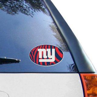 New York Giants 6 x 6 Zebra Die Cut Repositionable Vinyl Decal