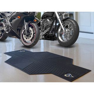 Fanmats Los Angeles Black Rubber Motorcycle Mat   17344791
