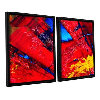 ArtWall Byron May Passionate Explosion 2 Piece Floater Framed Canvas