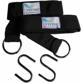 Vivere Eco Friendly Hammock Tree Straps, 2 Pack