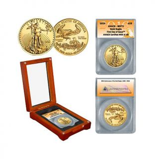 2016 ANACS MS70 First Day of Issue Limited Edition of 49 $25 Gold Eagle Coin   8008735