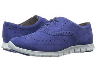 Cole Haan Zerogrand Wing Oxford Rainstorm Suede Closed Hole/Pearl Blue