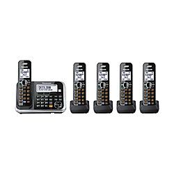 Panasonic KX TG845B Expandable Cordless Phone System With Digital Answering System