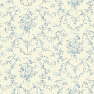 Willow Cottage Petit 33 x 20.5 Floral Embossed Wallpaper by Brewster