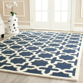 Safavieh Handmade Cambridge Moroccan Navy Cross Pattern Wool Rug (4 x