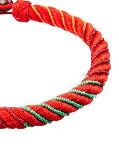 Maya beaded silk necklace  Aurélie Bidermann US