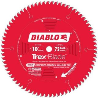 Diablo 10 in. x 72 Tooth Trex/Composite Material Cutting Saw Blade D1072CD