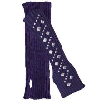 Luxury Divas Studded Knit Arm Warmers