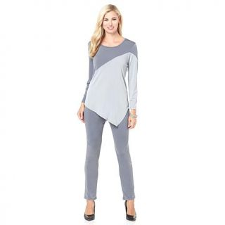 Slinky® Brand Colorblock Angle Hem Tunic and Pant Set   7864786