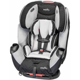 Evenflo Symphony LX All in 1 Car Seat Convertible Car Seat, Crete Gray