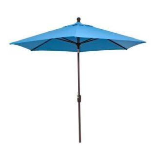 RST Brands Courtyard 9 ft. Patio Umbrella in Powder Blue OP MKT990 PBL