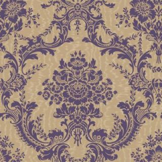 The Wallpaper Company 8 in. x 10 in. Antoinette Damask Red Wallpaper Sample WC1287306S
