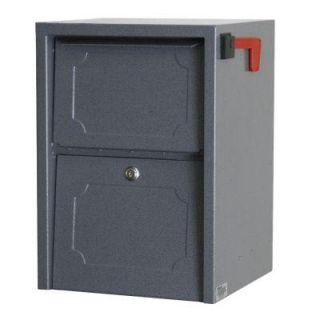 dVault Weekend Away Vault Gray Post/Column Mount Secure Mailbox DVJR0060 2