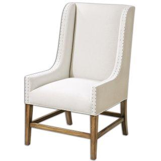 Uttermost 23189 Dalma Linen Wing Chair