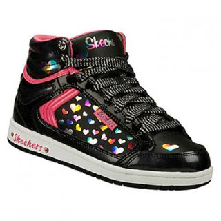 Skechers Hydee HY Top   Sugarcanes   Candy Pop  Girls'   Black Patent/Hot Pink