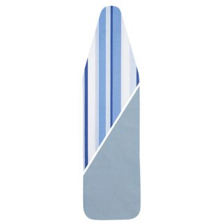 Household Essentials 7707 Reversible Blue Striped Padded Ironing Board