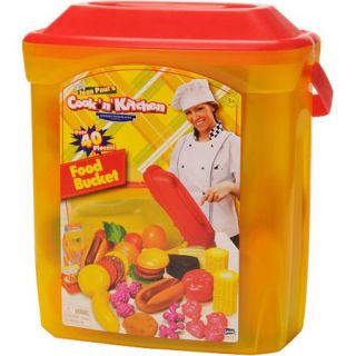 Cook N' Kitchen Gourmet Food Bucket 40 Piece Play Set