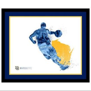 Framed Marquette Golden Eagles Silhouette Art (19 in. W x 16 in. H (5 lbs.))