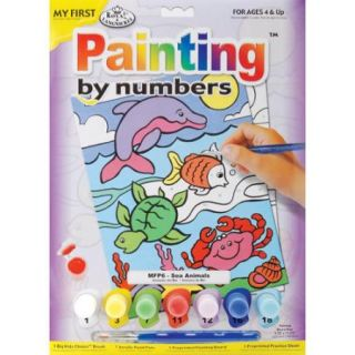 """My First Paint By Number Kit 8 3/4""""X11 3/8"""" Sea Animals"""