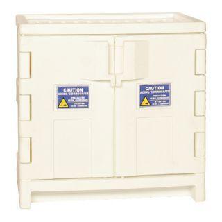 "EAGLE 35"" x 22"" x 36"" Polyethylene Corrosive Safety Cabinet, White   3NPK8|CRA P22W   Grainger"