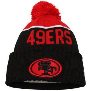San Francisco 49ers New Era Youth On Field Sport Cuffed Knit Hat   Black/Scarlet