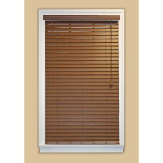 Style Selections 69 in W x 48 in L Bark Faux Wood Plantation Blinds