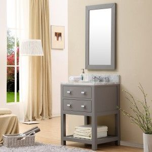 Water Creation Madalyn 24GF Madalyn Cashmere Grey  Single Basin Bathroom Vanity Sets
