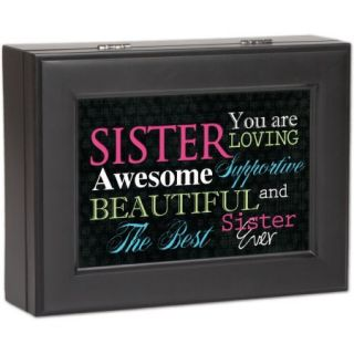 Cottage Garden Sister Matte Black Music Box / Jewelry Box Plays Thats What Friends Are For