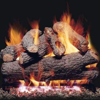 Peterson Real Fyre BDGX4 Royal English Oak Designer Vented Gas Log Set with G4 Burner