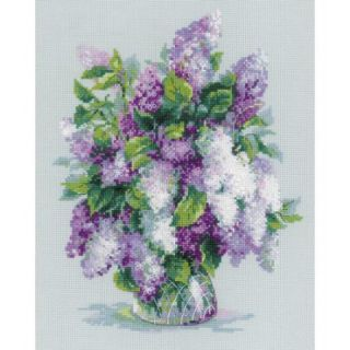 Gentle Lilac Counted Cross Stitch Kit 9.5X11.75 14 Count Multi Colored