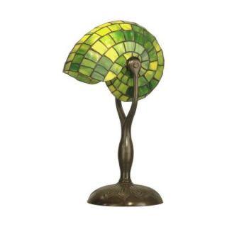 Dale Tiffany Nautilus 18 in. Antique Bronze Verde Table Lamp TT10345