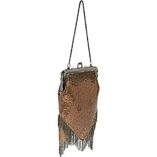 Whiting and Davis Vintage Look Chain Fringe Bag