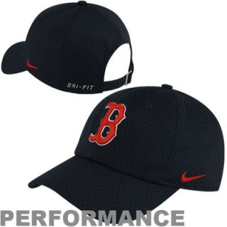 Nike Boston Red Sox Logo Mesh Dri FIT Adjustable Hat   Navy Blue