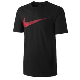 Nike Hangtag Swoosh Short Sleeve T Shirt   Mens   Casual   Clothing   Black/Sport Red