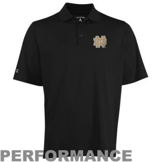 Antigua Notre Dame Fighting Irish Pique Xtra Lite Performance Polo   Black