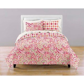 Spring Fling Reversible Paisley/ Diamonds 7 piece Bed in a Bag with