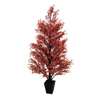 Potted Glittered Berry Christmas Tree by Tori Home