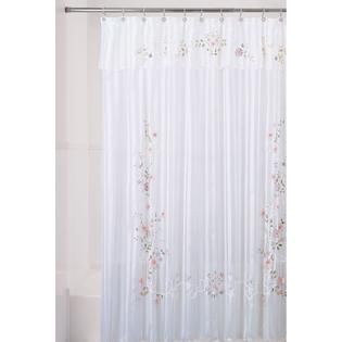 Essential Home Shower Curtain Ribbon Flower Fabric   Home   Bed & Bath